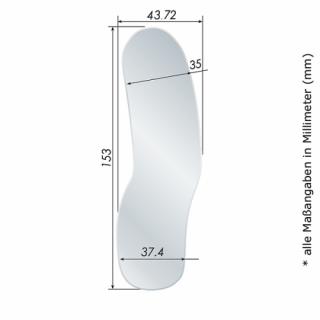 Fotospiegel-Kit ECO+ mit Edelstahl-Spiegel # 04 Front Surface, Erw., Lateral