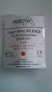 Laserdraht AR Cr-Co 2m Rolle 0,50 mm