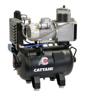 Cattani 1-Zylinder-Kompressoren mit 30l Tank ohne Schallschutzhaube