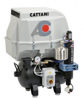 Cattani 2-Zylinder-Kompressoren mit 30l Tank 230 V 50 Hz mit Schallschutzhaube