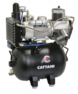 Cattani 3-Zylinder-Kompressoren mit 45l Tank 400 V 50 Hz