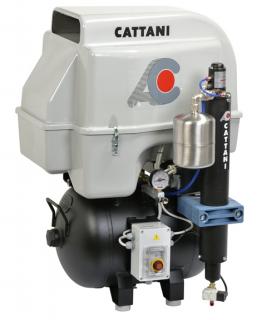 Cattani 3-Zylinder-Kompressoren mit 45l Tank 230 V 50 Hz mit Schallschutzhaube