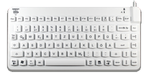 Slim Cool Keyboard hygienic white