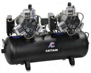 Cattani 3-Zylinder-Tandem-Kompressor mit 150 l Tank