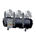 Cattani 3-Zylinder-Tridem-Kompressor mit 300 l Tank