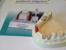 pattern eXpress Pulver Farbe rot oder dentin 100 g
