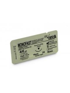 Nahtmaterial 75 cm Monofast 4/0 Schneidend 16 mm 3/8 kreisförmig Schneidend