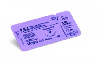 P.G.A. Nahtmaterial P.G.A. 3/0 Schneidend 19 mm 3/8 kreisförmig Schneidend